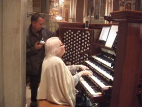 Sister Harriet Padberg plays the great Kilgen Organ at the Cathedral Basilica of St. Louis.