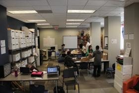 The makerspace at Grand Center Arts Academy.