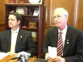 House Budget Chairman Rick Stream, right, is one of the most powerful lawmakers in Missouri state government. He entered the race for St. Louis County executive in March.