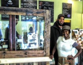 Cbabi and Reine Bayoc at Sweet Art bakery