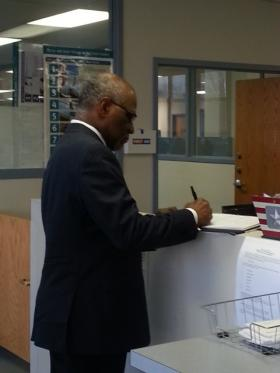 St. Louis County Executive Charlie Dooley filed for office Tuesday morning at the county Election Board in Maplewood.