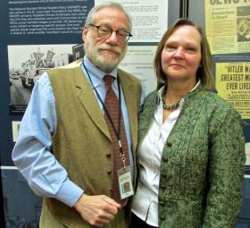 "Daniel Reich and Diane Everman, curators of ""Standing for Justice."""