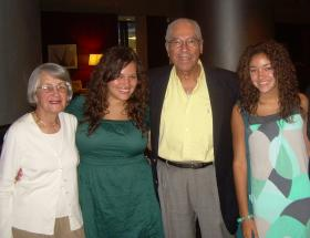 From left, Ruth, Alexandra, Frank and Lauren Richards in 2010