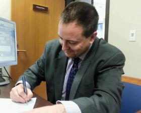 Jay Ashcroft files for his state Senate race.