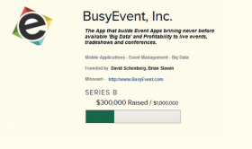 "The ""button"" on BusyEvent's web site that lets people know they are in fundraising mode."