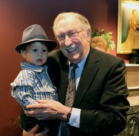 Norman London with his youngest grandson, Jonas