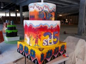 Mark Swain's Cahokia Mounds cake