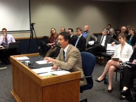 State Rep. Mike Moon, R-Ash Grove, answers questions regarding the article of impeachment he filed against Mo. Gov. Nixon.