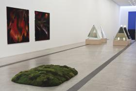 """Installation view of the Main Gallery, """"Art of Its Own Making,""""The Pulitzer Foundation for the Arts, 2014"""