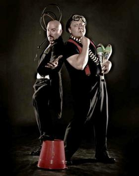 Juggling Jeff and Oh My Gosh Josh from Circus Flora.