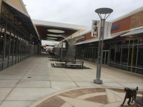 Taubman Prestige Outlets opened last year.