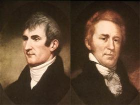 Meriwether Lewis (left) and William Clark.