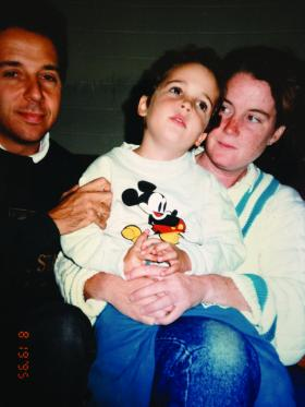 Owen Suskind with his parents, Ron Suskind and Cornelia Kennedy