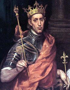Saint Louis, King of France by el Greco