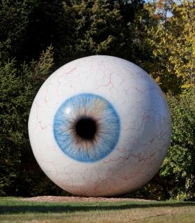 gigantic eyeball sculpture