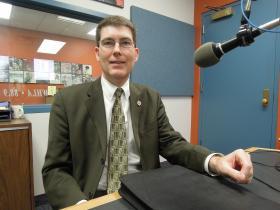 New Superintendent of Catholic Education, Kurt Nelson, speaks to St. Louis Public Radio from Wisconsin Public Radio's studio in La Crosse, Wis.