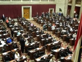 Floor of the Missouri House on May 14, 2014 during abortion debate.