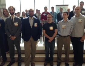 The winners of the 2014 Arch Grants competition pose after Wednesday's announcement.