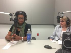 Sen. Maria Chappelle-Nadal, D-University, and St. Louis Public Radio reporter Jo Mannies.