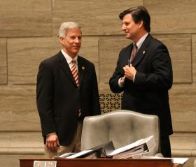 Sens. Rob Schaaf, R-St. Joseph, and Sen. John Lamping, R-Ladue, helped torpedo an effort to restructure the state's tax credit. They argue that Rep. Anne Zerr's bill didn't do nearly enough to curtail the incentives.