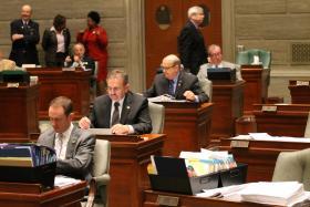 Justus starting serving in the Missouri Senate in 2014.