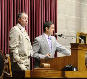 House Speaker Tim Jones' speakership is coming to an end. But he may need to increase enthusiasm within his Republican caucus -- and bring over some Democratic support -- to override Gov. Jay Nixon's potential veto of a school transfer bill.