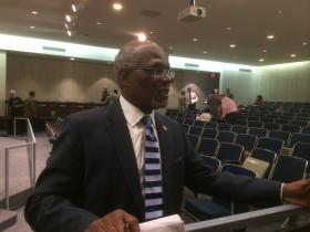 St. Louis County Executive Charlie Dooley and councilmembers bitterly clashed over a proposal to bring a private auditing firm look at the county's fraud procedures.