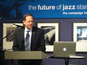 St. Louis Mayor Francis Slay at Jazz St. Louis news conference