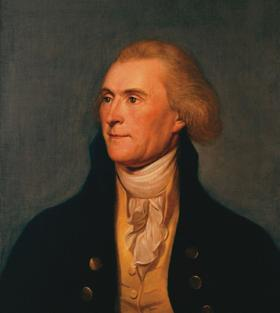 Portrait of Thomas Jefferson painted while he was secretary of state.