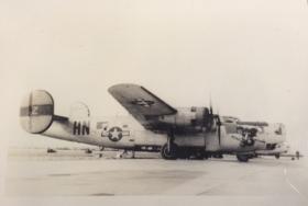 Harris Gerhard's B-24, called the Battle Dragon.