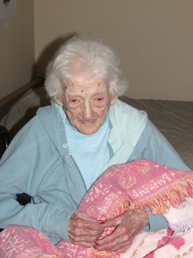 American Edna Parker was the oldest living person in the world when she died in 2008. In this 2007 photo she was 114.