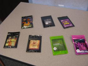 Some of the synthetic drugs seized in raids related to federal indictments made public on June 18, 2014.