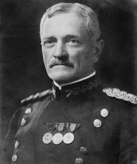 """John Joseph """"Black Jack"""" Pershing was a general officer in the United States Army who led the American Expeditionary Forces in World War I."""