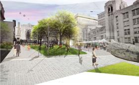 Rendering of part of the revamped Grand Center