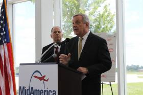 U.S. Sen. Dick Durbin, D-Illinois, and U.S. Rep. Bill Enyart, D-Belleville, took part in the manufacturing summit.