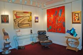 The modernism exhibit at the Kodner Art Gallery