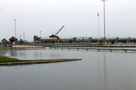 The U.S. Army Corps of Engineers closed Lock and Dam 24 at Clarksville over the weekend.