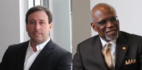 Councilman Steve Stenger and St. Louis County Executive Charlie Dooley