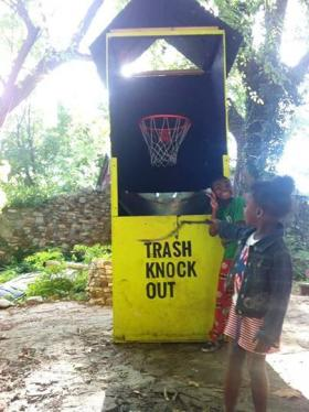One of Nichols' projects turns picking up trash into a game.