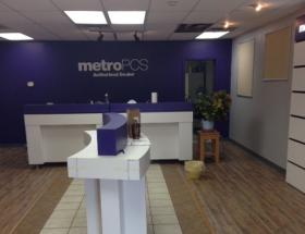 The cell phone store Metro PCS is completely empty after being looted the night after Michael Brown was shot by a Ferguson police officer.