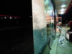 A QuikTrip at 9402 West Florissant was looted and burned to the ground in the violence.