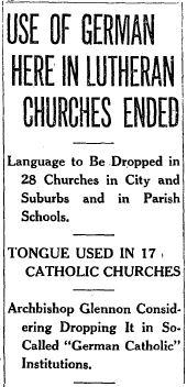 Headline from the St. Louis Post-Dispatch April 17, 1918.