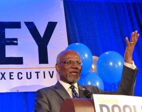 St. Louis County Executive Charlie Dooley concedes defeat in his hard-fought campaign.