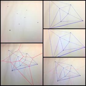 Steps for making a Voronoi diagram