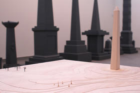 "Sam Durant's ""Proposal for White and Indian Dead Monument Transpositions, Washington, D.C.,"" 2005  Kemper 03"