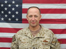Greg Davison is pictured here while serving in Afghanistan. In addition to his job at the Sheet Metal Workers union, Davison is a U.S Navy veteran.