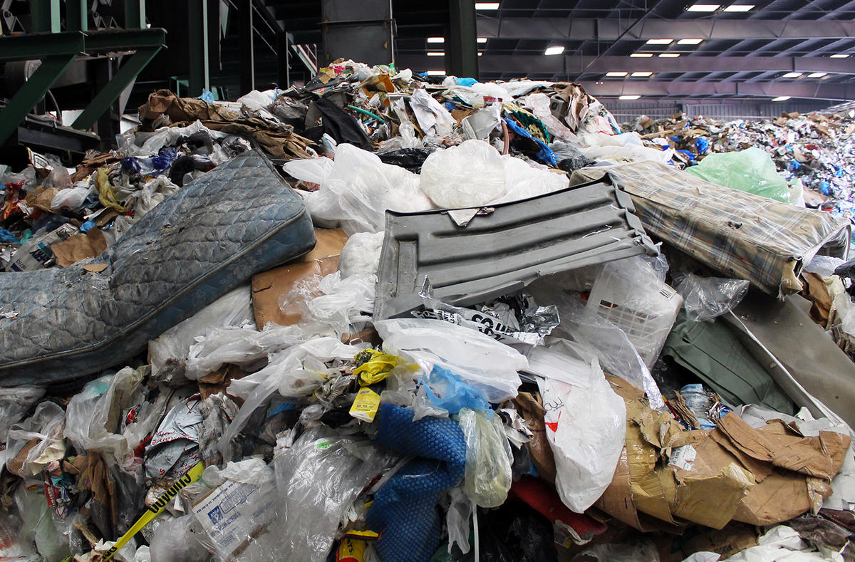 "On average, about 8 percent of what comes into Resource Management's MRF as ""single-stream"" is actually trash or too contaminated to recycle."