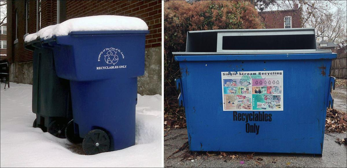Wet paper cannot easily be recycled in the single-stream process, so it's best to keep the lids on roll carts closed and avoid putting recycling in open city dumpsters during wet weather.