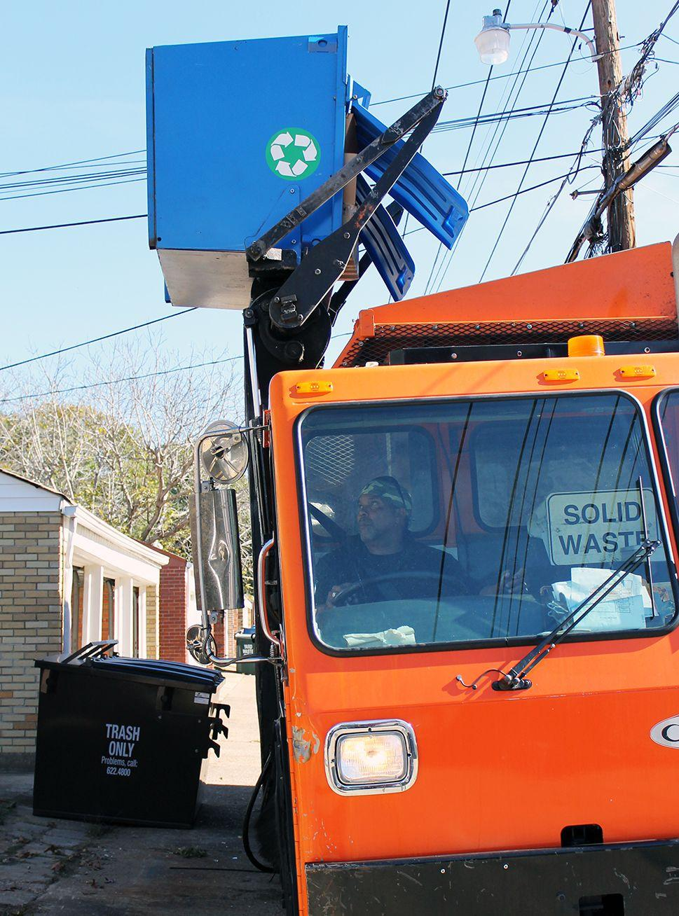"In St. Louis City, the same trucks that pick up garbage also pick up single-stream recycling. Driver Clarence James ""Smiley"" Thomas, Jr. has been driving the city's trucks for eight years."
