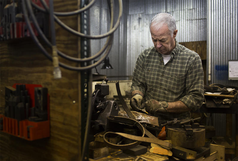 The machine shop is critical to making repairs and creating the parts for new projects for the engines at the Wabash, Frisco and Pacific Railroad Association.